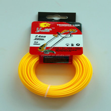 Factoty Price Yellow Color Nylon 2.4mmX15m Trimmer Line / Grass Moving Line