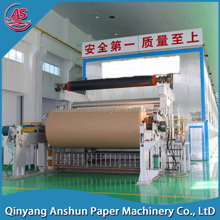 1092mm waste based fluting testliner improved corrugating recycled paper / paper plate making machine