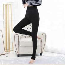 Manufacturer in stock winter warm high waist good elasticity skin black women seamless tights pantyhose