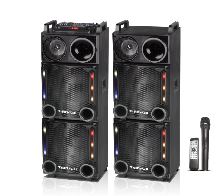 2.0 active dj speaker with amplifier and bluetooth