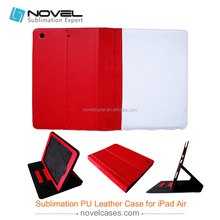 Customized blank sublimation leather wallet for ipad air, pu leather phone cover