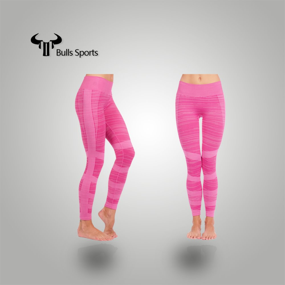 Pink!!! women knitted tight pant legging panty hose hot yoga pants made in china