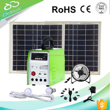 20w solar panel system with FM radio&MP3 player solar power system home panel mobile home solar panel system