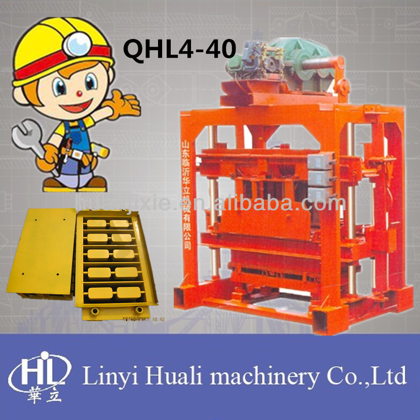 QT4-40 manual concrete block making machine price,FOR family or small factory to do business!from china