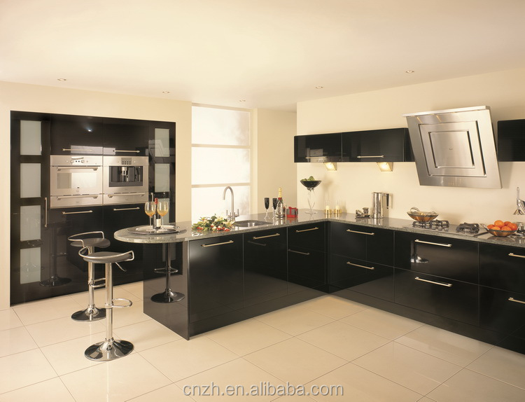 L shaped modular kitchen designs lacquer kitchen cabinet