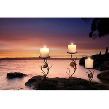 Lastest Wall Art with Led Lights Canvas Print Lighted Candle Picture for Christmas Gift Cheap china factory wholesale