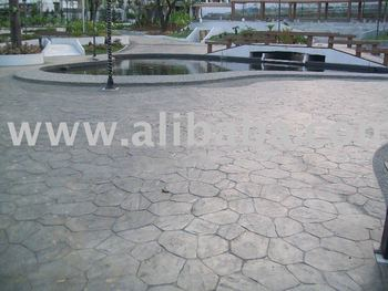 Stamped Concrete Project by QC Phils. under the supervision and installation by F.S. Rivera Home Improvement