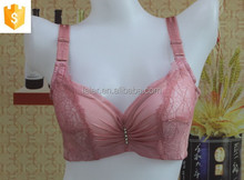 wholesale fashion mesh and lace fabric padded <strong>sexy</strong> bra with printed strape