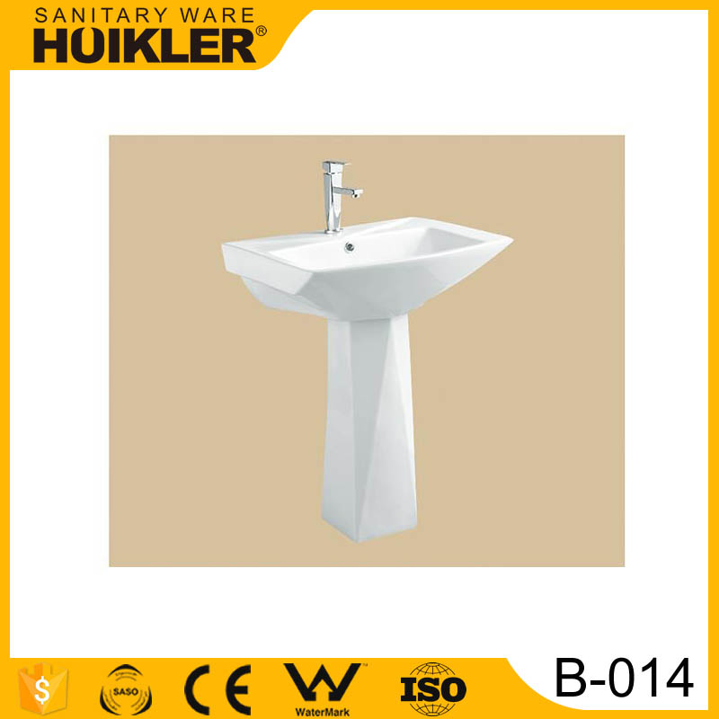 B-014 European Sanitary Ware Bathroom toilet basin suite Pedestal Sink