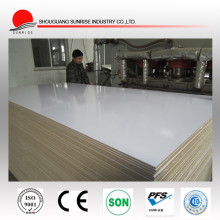 9mm high gloss white mdf board