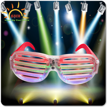 Voice control PC Frame Material led Flash Party Glasses with RGB rave flash