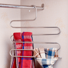 Inspring S pants hangers, Stainless Steel S-type Multi-Purpose Magic Closet Hangers Space Saver Storage Rack