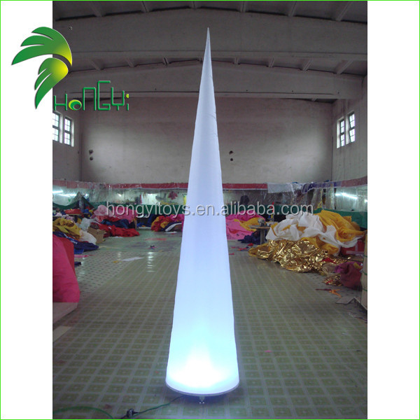 Hot Selling Attractive Decoration LED Inflatable Column Cone Balloon For Event