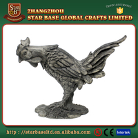 Hand crafts collection sculpture rooster animal model oem animal figures