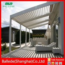 High quality electric roof balcony awning louvre
