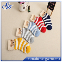 2016 hot sale lovely joker bar wholesale cotton baby socks