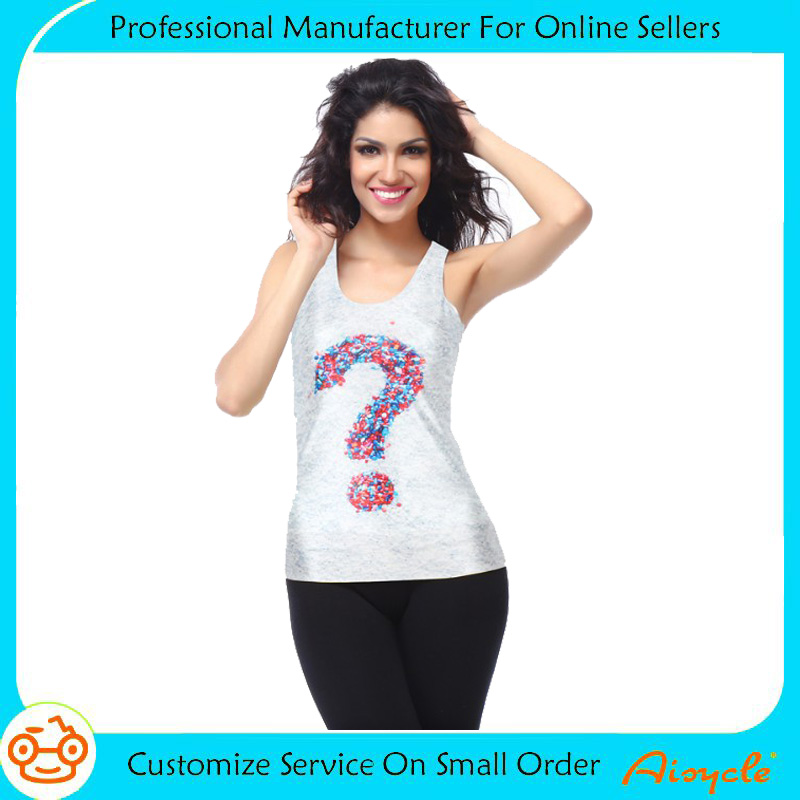 Hot sale sexy custom sports 3d print tank top for women