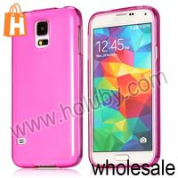 Fashion Glossy Matte Surface Soft Gel Case Cover for Samsung Galaxy S5 I9600 TPU Case