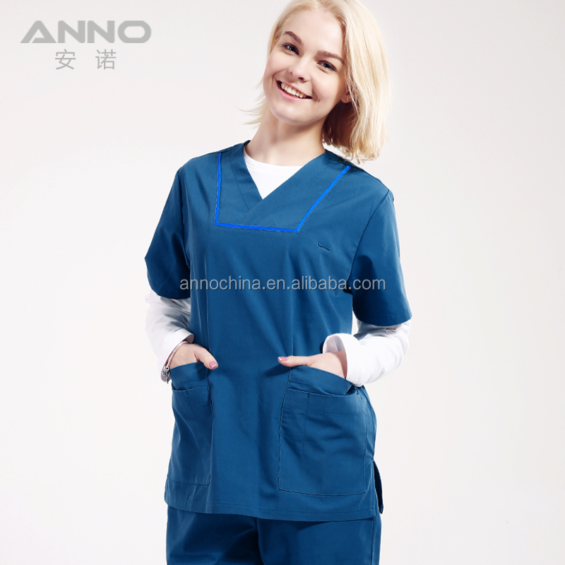 Anno green hospital uniform medical scrubs wholesale