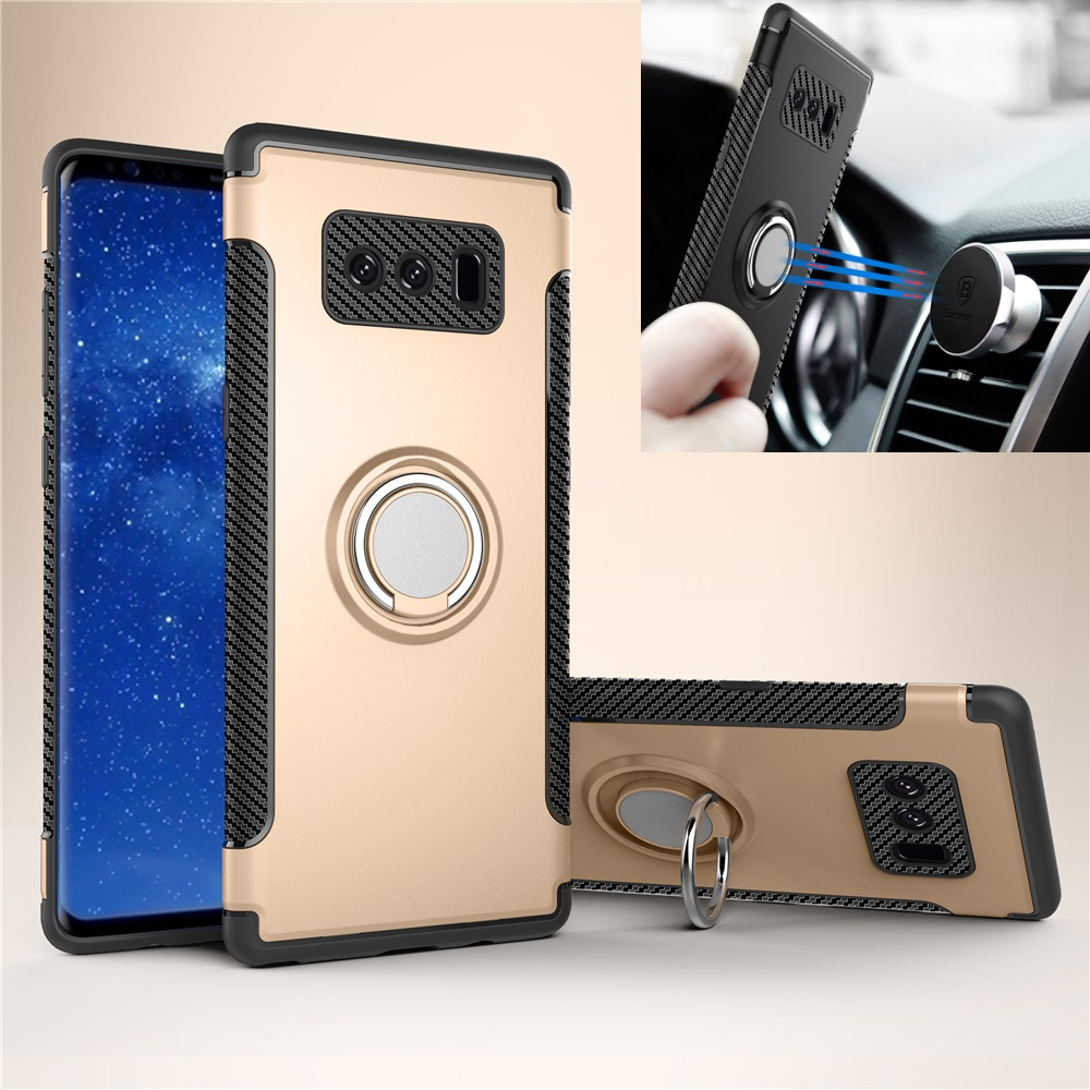 For Samsung note 8 armor shockproof case note 8 tough case ring stand cell phone Accessories top selling products in alibaba