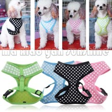 Adjustable Dog Pet Car Seat Safety Chest Belt Harness Strap White Dot