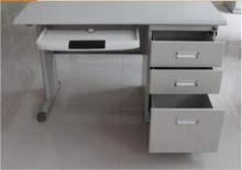 modern closed computer office desk with locking drawers