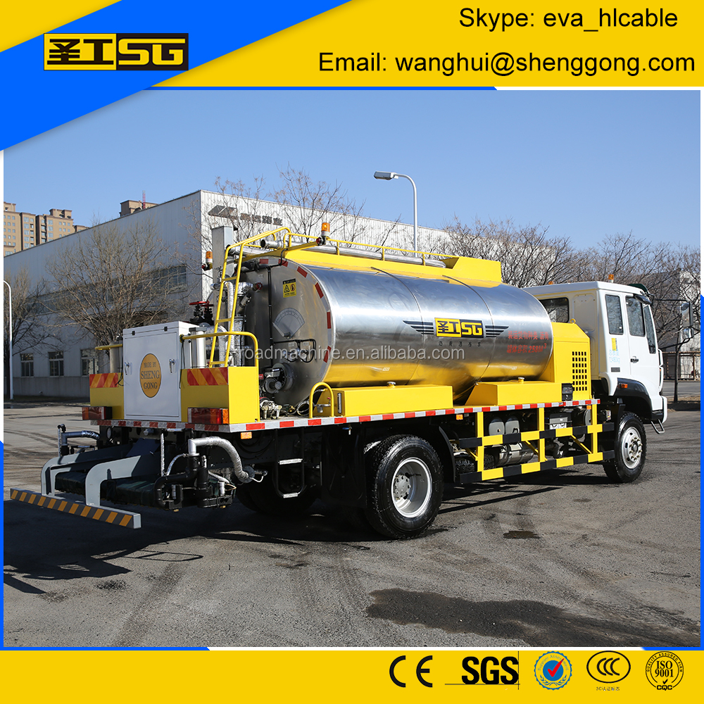 8000 Liter Emulsion Asphalt, Computerized Emulsion Asphalt Distributor