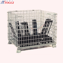 industrial portable stacking metal storage pallet containers