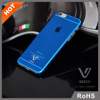 Ultrathin Hard Case Cover For Iphone 5s 5 4 4s 6 4.7 inch JULESV logo Transparent case For Apple
