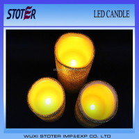 LED Candle with On/Off Button/avalable in yellow