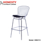 HM021H Modern Design Furniture Chrome Metal Legs Wire Base Bertoia Bar Stool High Chair Supplier