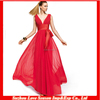 HC4215 The Whole Sale A-line Floor Length Tank V Neckline long bridesmaid dress party dress hot red chiffon cocktail dress