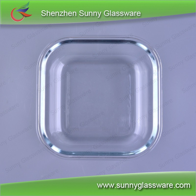 Borosilicate square charger plates glass