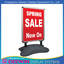 Economical Water Filled Base Poster Stand with Thicken Alu. Snap Frame