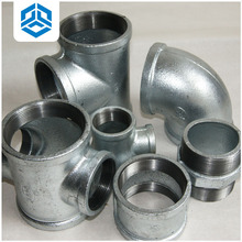 black / galvanized malleable cast iron pipe fittings ,elbow ,union , tee, cross, socket