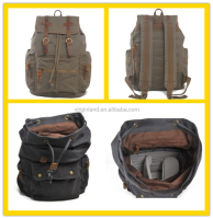 1039s Custom Mens Canvas Sports Backpack for Camera
