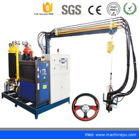 China hot sale discontinuous polyurethane foam making machine for car steering wheel