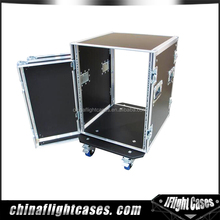 18 inch body depth amplifier deluxe flight case with caster board, AMP rack case