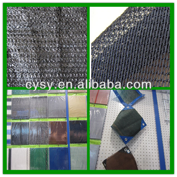 high quality garden shade net/vegetable garden sun shade netting/black Circular eyelet knitting sunshade ne