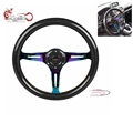 Ryanstar New Universal carbon fiber Deep concave 6 holes racing steering wheel