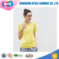 100% cotton womens plain slim fit t-shirts custom printing solid color summer t shirts manufacturer