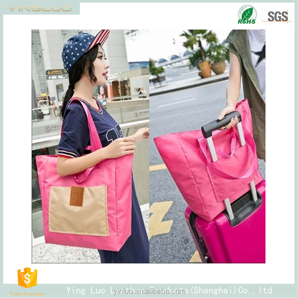 2017 new Simple folding shopping bag, hand bag, durable and environmental protection shopping bag