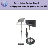 Iron floor standing sign board picture holder stand HS-LP08