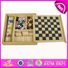 2015 Wholesale China Manufacturer Chess Game set,latest wooden chess game toy,hot selling wooden toy chess game WJ277082