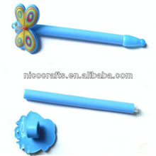 butterfly shape plastic silicone pencil cap for sale