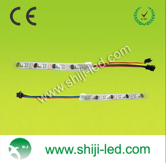 Individually control white PCB board ws2801 led pixel ribbon
