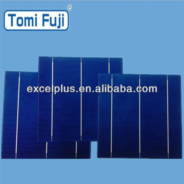 3 busbars 156*156mm poly crystalline PV Solar Cell , high efficiency solar energy cell