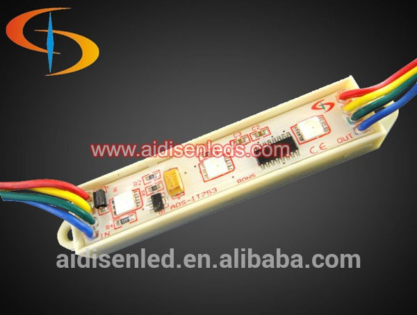 CE Rohs Approval ;3pcs high power full color rgb 5050 Led modules for lighting box