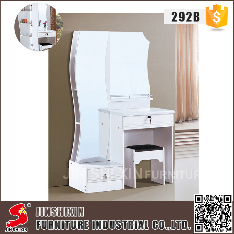 Best price bedroom furniture cheap wooden functional wall mounted dressing table