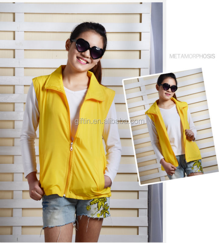 2015 Popular design fashion fancy vest for women